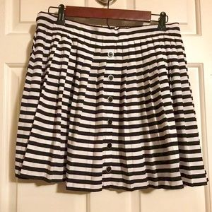 Candies Polyester Striped Pleated Skirt